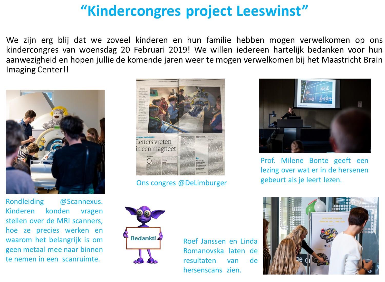 Kindercongres project Leeswinst_dutch